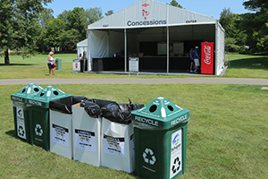 Recycling station at Dow Great Lakes Bay Invitational