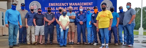 Emergency management teams in Texas