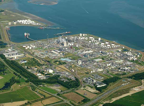 Aerial photo of Dow Terneuzen site