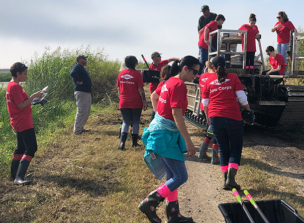 Dow volunteers in Louisiana