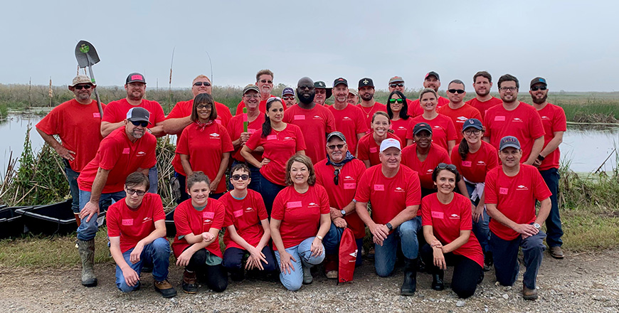 Dow volunteers in Louisiana participate in tree planting event