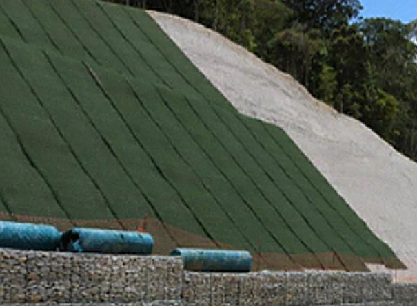Erosion protection solution on a hillside