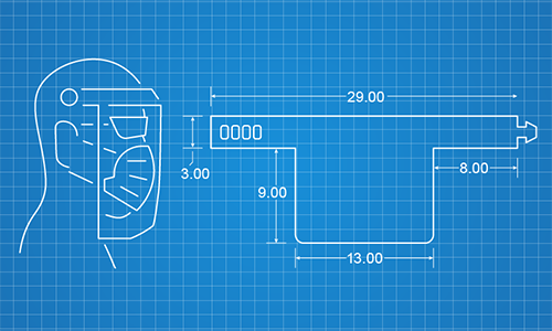 Face shields design blueprint designed by Dow