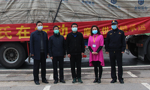 Dow and local customers in Hubei donate sanitizers
