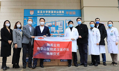Dow and local customers donate protective suits in Hubei